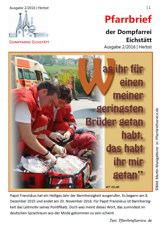 Dompfarrbrief Herbst 2016